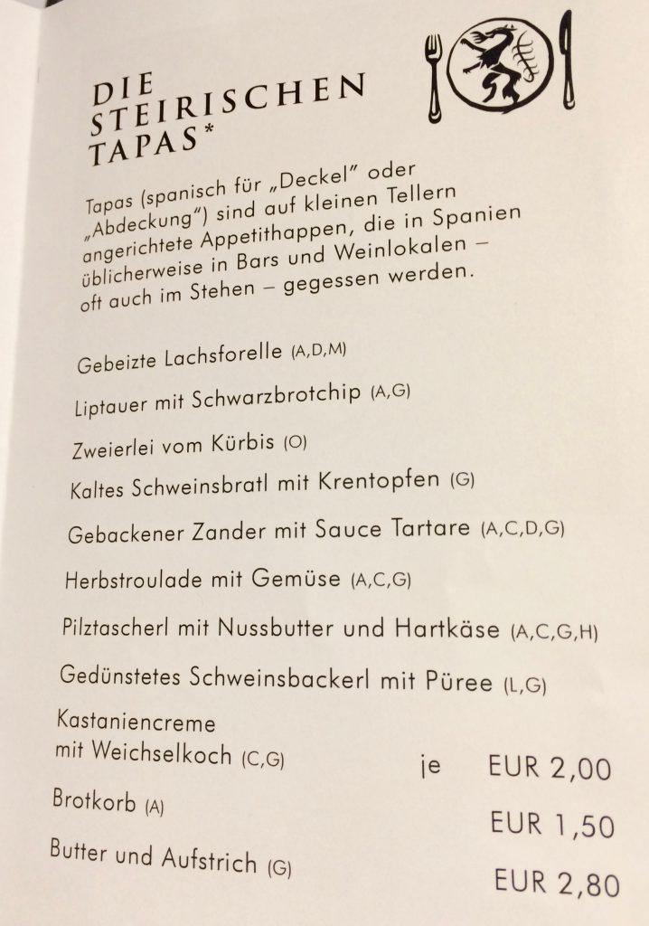 STEIRISCHEN TAPAS - Der Steirer - Graz - travel.mosi-unterwegs.de